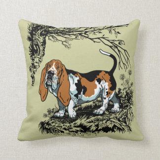 basset illustration cushion