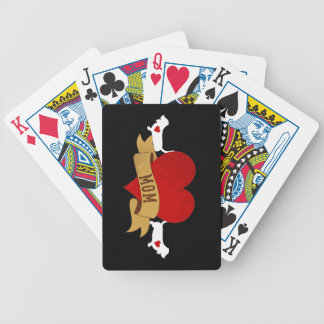 Basset Mom [Tattoo style] Bicycle Playing Cards