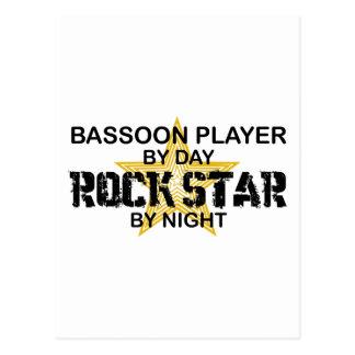 Bassoon Player Rock Star by Night Postcard