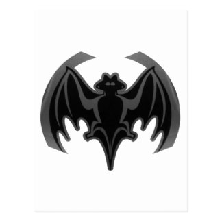 Bat Black Inv The MUSEUM Zazzle Gifts Post Cards