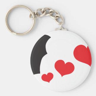 Bat farts Hearts Key Ring