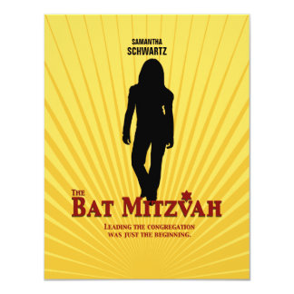 Bat Mitzvah Movie Star Reply Card 11 Cm X 14 Cm Invitation Card