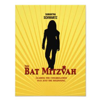 Bat Mitzvah Movie Star Reply Card 11 Cm X 14 Cm Invitation Card