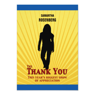 Bat Mitzvah Movie Star Thank You Card 13 Cm X 18 Cm Invitation Card