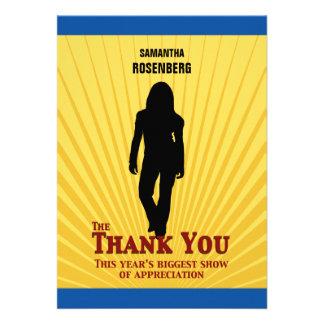 Bat Mitzvah Movie Star Thank You Card Custom Invitation