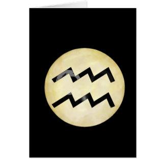 Bat Moon Aquarius Card