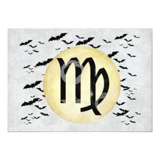 Bat Moon Virgo Card
