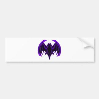 Bat Purple The MUSEUM Zazzle Gifts Bumper Sticker