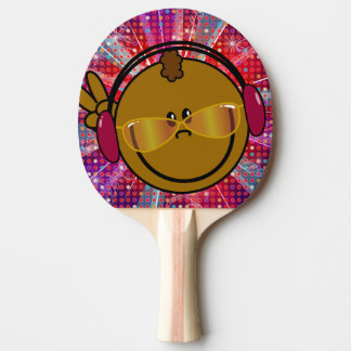 Bat - smiley DJ - plays ping-pong disco style