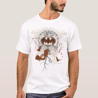 Bat Symbol Ribcage Vintage Collage T-Shirt