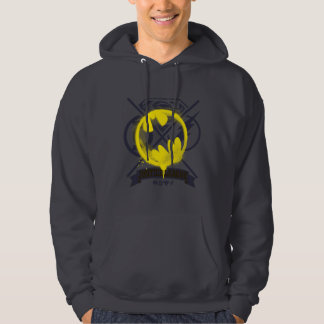 Bat Symbol Tagged Over Justice League Hoodie