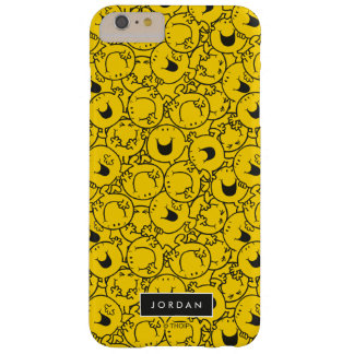 Batch of Yellow Smiles Pattern | Add Your Name Barely There iPhone 6 Plus Case
