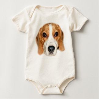 Bath Dog Beagle (colored) Strampler Baby Bodysuit