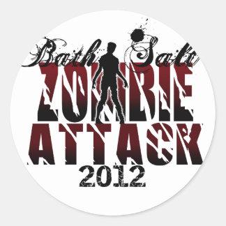 Bath Salt Zombie Attack 2012 Classic Round Sticker