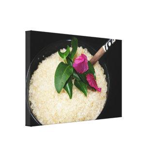 Bath Salts at a Spa or Beauty Salon Canvas Print