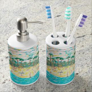 bath set beach theme