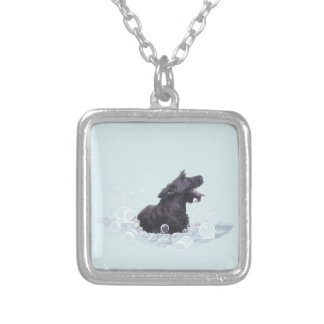Bath Time Silver Plated Necklace