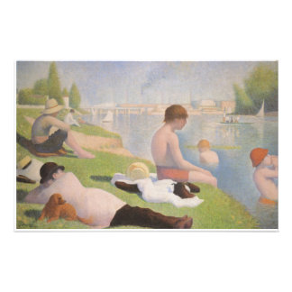 Bathers at Asnieres by Georges Seurat Stationery