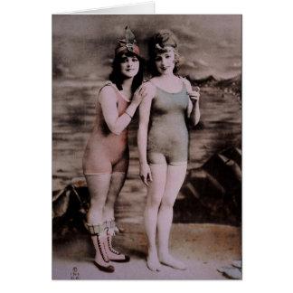 Bathing beauties, vintage card