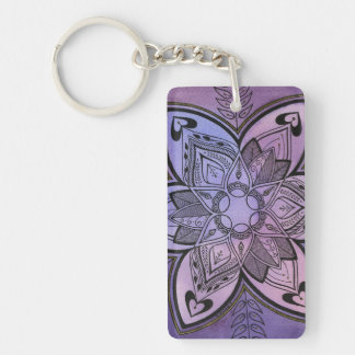 Batik Design Acrylic Key Chain