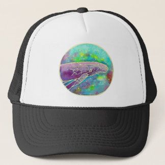 Batik Humpback Whale Art Trucker Hat