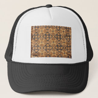 Batik in tie trucker hat