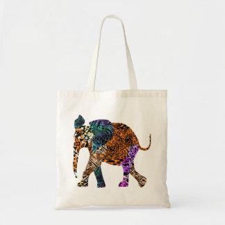 Batik Style Baby Elephant tote bag
