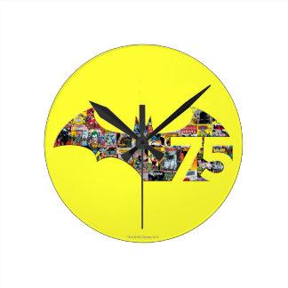 Batman 75 Logo - Comic Covers Round Clock