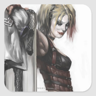 Batman Arkham City | Harley Quinn Illustration Square Sticker