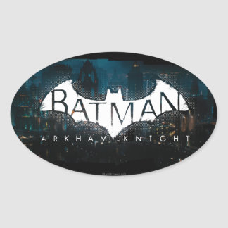 Batman Arkham Knight Gotham Logo Oval Sticker