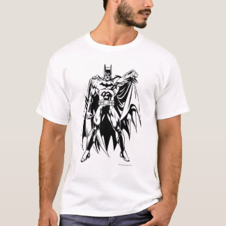 Batman Black and White Front T-Shirt