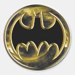 Batman Gold Logo Round Sticker