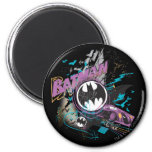 Batman Gotham Skyline Sketch 6 Cm Round Magnet