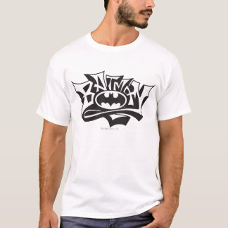 Batman | Graffiti Name Logo T-Shirt