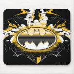Batman Logo with Cars Mouse Pad