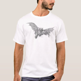 Batman Lunging Forward Drawing 2 T-Shirt