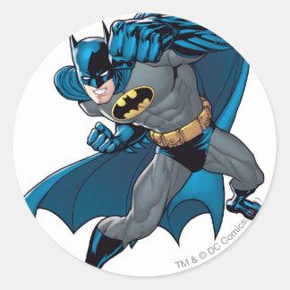 Batman Punch Round Sticker