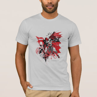 Batman Red and Black Collage T-Shirt