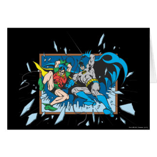 Batman & Robin Shatter Window Greeting Card