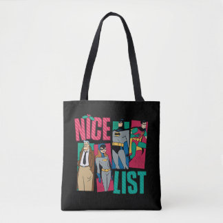 Batman | Santa Nice List of Heroes Tote Bag
