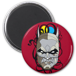 Batman Stained Glass Pen & Ink 6 Cm Round Magnet