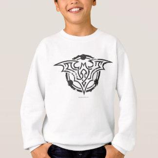 Batman Symbol | Black White Line Art Logo Sweatshirt