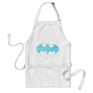 Batman Symbol   Blue Striped Logo Standard Apron