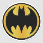 Batman Symbol   Classic Round Logo Round Sticker