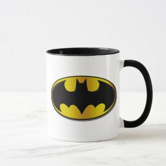 Batman Symbol   Oval Gradient Logo Mug