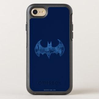 Batman Symbol | Sketchbook Light Blue Logo OtterBox Symmetry iPhone 7 Case