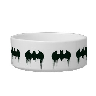Batman Symbol | Spraypaint Logo Cat Water Bowls