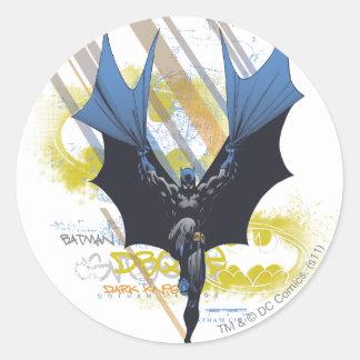 Batman Urban Legends - Dark Knight Graffiti Classic Round Sticker