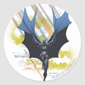 Batman Urban Legends - Dark Knight Graffiti Round Sticker