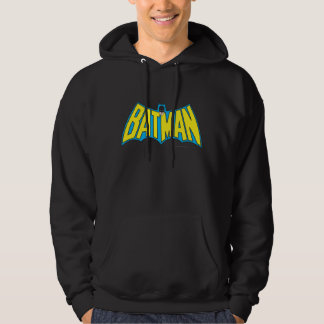 Batman | Vintage Yellow Blue Logo Hoodie